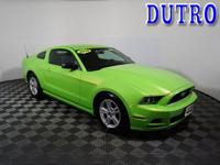 Green 2014 Ford Mustang V6 Priced below KBB Fair