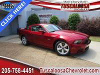 This 2014 Ford Mustang GT Premium in Ruby Red Metallic