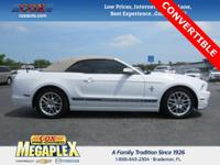 This 2014 Ford Mustang V6 Premium in Oxford White is