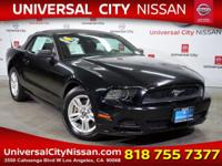 Clean CARFAX. Black 2014 Ford Mustang V6 2D Convertible
