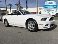Clean CARFAX. Certified. Oxford White 2014 Ford Mustang
