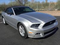 Mustang V6, 2D Convertible in Ingot Silver Metallic!!