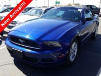 2014 Ford Mustang V6 Deep Impact Blue Metallic. ABS
