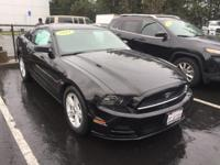 2014 Ford Mustang V6 in Black and ***CLEAN CARFAX