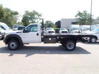 This 2014 Ford Super Duty F-550 DRW Chassis Cab FLATBED