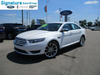 Options:  2014 Ford Taurus Limited|White Platinum