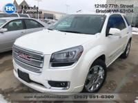 Recent Arrival! AWD, Leather. 2014 GMC Acadia 4D Sport