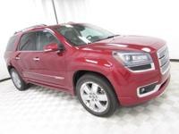 2014 GMC Acadia Denali Crystal Red Tintcoat Certified.