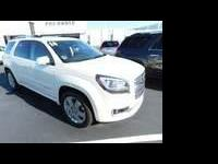 CARFAX One-Owner. White Diamond Tricoat 2014 GMC Acadia