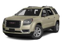 ONE OWNER and CLEAN CARFAX. Acadia SLE-2, 4D Sport