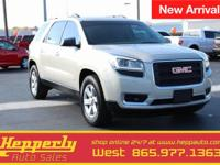 Clean CARFAX. This 2014 GMC Acadia SLE-2 in Champagne