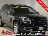 ** GM CERTIFIED ** GMC ACADIA SLT-1, AWD, KEYLESS ENTRY