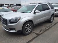 2014 GMC Acadia SLT-1 in Silver and GM Certified.