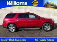Options:  2014 Gmc Acadia Slt-2|Red|Navigation|Touch