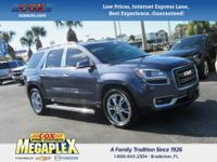 This 2014 GMC Acadia SLT-2 in is well equipped with: