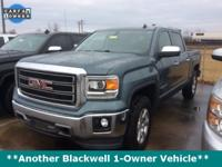 CARFAX One-Owner. Blue Granite 2014 GMC Sierra 1500 SLT