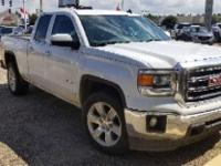 Certified. Summit White 2014 GMC Sierra 1500 SLE RWD