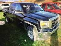 One-Owner Crew Cab!! And 4x4 Power!. Sierra 1500 SLE,