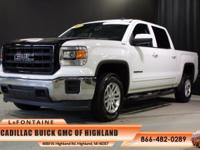 2014 GMC Sierra 1500 SLE in White. 6-Speed Automatic