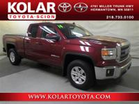 Sierra 1500 SLE, 4WD, ONE Owner Per AUTO CHECK History