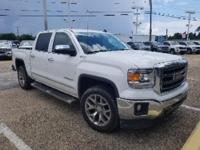 Certified. Summit White 2014 GMC Sierra 1500 SLT Z71