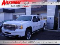 White 2014 GMC Sierra 2500HD Denali 4WD Allison 1000