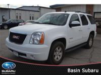 Our 2014 GMC Yukon SLT RWD on display in White Diamond