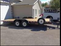 We have 5 flat bed trailers in stock that are