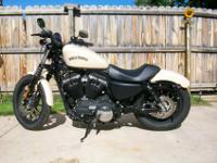 2014 883 Iron Sportster has ONLY 117 initial miles.
