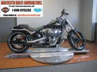 The FXSB Softail model's fenders are chopped to the