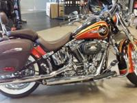 The CVO Softail Deluxe FLSTNSE model is powered by the