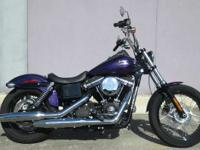 This Dyna Street Bob FXDB model features optional Hard