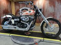 The Harley Dyna Wide Glide model includes a powerful