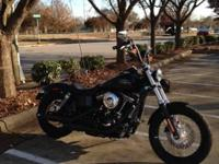 2014 Harley Davidson FXDB Street Bob. $2000 worth of