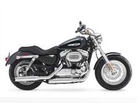 The Harley Sportster 1200 Custom model like all H-D