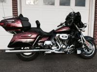 2014 Harley Davidson Ultra Limited, $5,000 in extras on