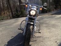 2014 XL1200C sportster custom for sale. Black and