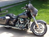 2014 Street Glide Special Charcoal Pearl in color,
