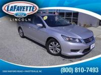 *New Arrival* This 2014 Honda Accord Sedan LX Includes