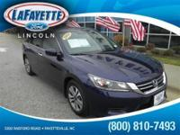 *Priced below Market!* This 2014 Honda Accord Sedan LX