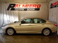 New Price! This 2014 Honda Accord EX-L in Tan features: