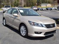 Clean CARFAX. Tan 2014 Honda Accord EX-L FWD CVT 2.4L