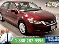 Recent Arrival! New Price!2014 Honda Accord, Red Pearl,