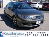 Clean CARFAX. Modern Steel Metallic 2014 Honda Accord