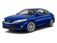 Options:  2014 Honda Accord Coupe Ex-L|Blue/|V6 3.5 L