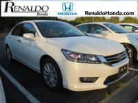 2014 Honda Certified Accord EX-L White Tan Leather.