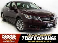 2014 HONDA ACCORD EX IN BASQUE RED PEARL, SUNROOF,