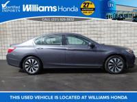 Options:  2014 Honda Accord Hybrid|Gray|2.0L 4-Cylinder