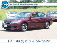 CARFAX ONE OWNER! And CLEAN CARFAX!. Accord Hybrid