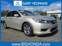 This 2014 Honda Accord Includes. Cloth. Recent Arrival!